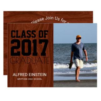 Clase 2017 de fiesta de graduación de la foto de invitación 12,7 x 17,8 cm