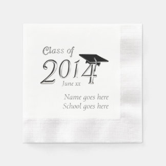 Clase adaptable de la graduación 2014 servilleta de papel