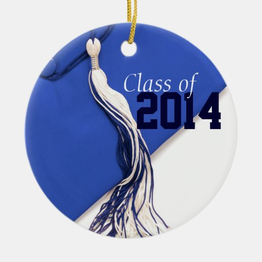 Clase azul del ornamento 2014 adorno