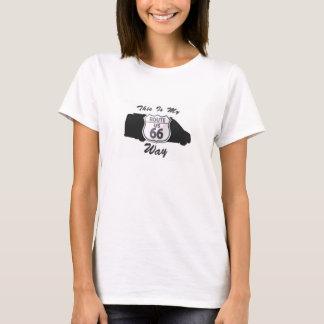 Clase B mi motorhome de la ruta 66 rv de la manera Camiseta