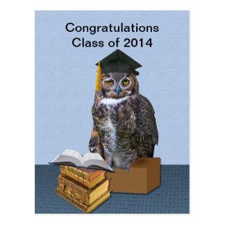 Clase chistosa del búho 2014 de la graduación postal