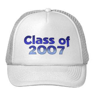 Clase de 2007 azules y blancos gorra