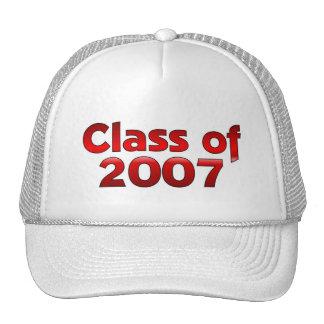 Clase de 2007 rojos y blancos gorras de camionero