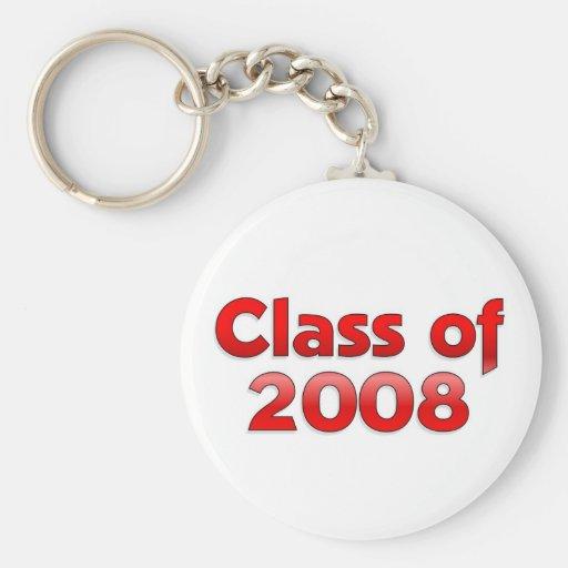 Clase de 2008 - llavero rojo