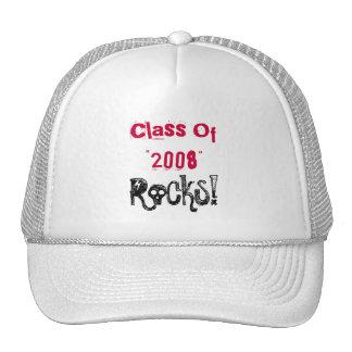 """¡Clase de """" 2008"""", rocas! Gorras"""