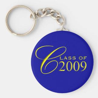 Clase de 2009 azules y de llavero de la graduación