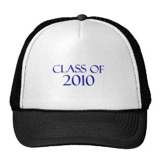 Clase de 2010 - azul y blanco gorros bordados