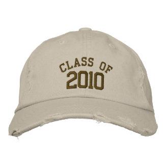 Clase de 2010 gorras gorros bordados