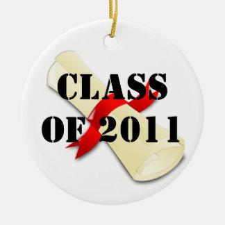Clase de 2011 ornamentos de navidad