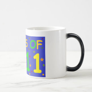 Clase de 2011 camisetas y regalos coloridos taza mágica