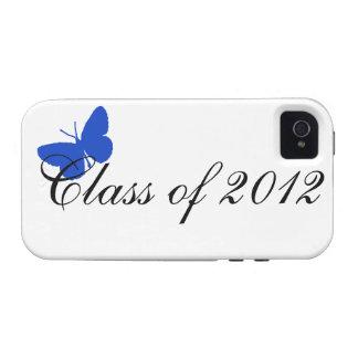 Clase de 2012 - mariposa azul iPhone 4 carcasa