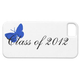 Clase de 2012 - mariposa azul iPhone 5 fundas