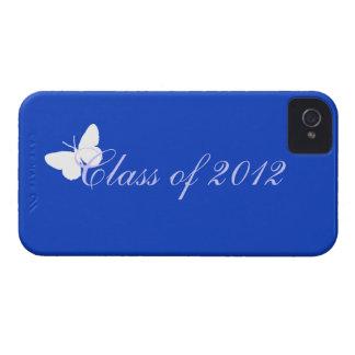 Clase de 2012 - mariposa azul Case-Mate iPhone 4 protectores