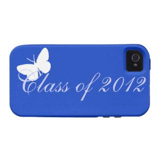 Clase de 2012 - mariposa azul iPhone 4/4S fundas