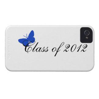 Clase de 2012 - mariposa azul iPhone 4 Case-Mate cárcasa