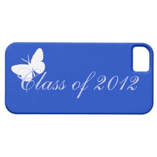 Clase de 2012 - mariposa azul iPhone 5 cárcasa