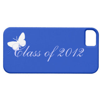 Clase de 2012 - mariposa azul iPhone 5 cobertura
