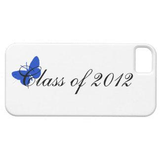 Clase de 2012 - mariposa azul iPhone 5 protectores
