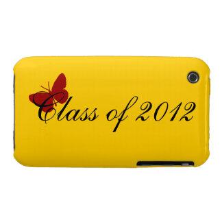 Clase de 2012 - mariposa cardinal iPhone 3 protector