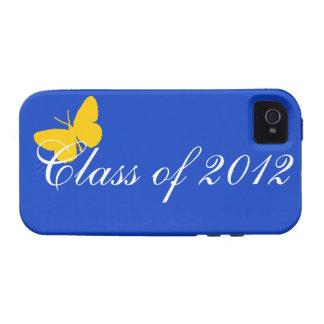 Clase de 2012 - mariposa del azul y del oro iPhone 4/4S carcasa