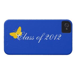 Clase de 2012 - mariposa del azul y del oro iPhone 4 Case-Mate protector
