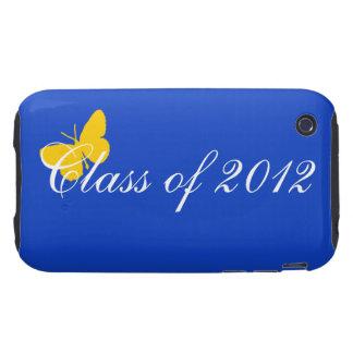 Clase de 2012 - mariposa del azul y del oro iPhone 3 tough cárcasa