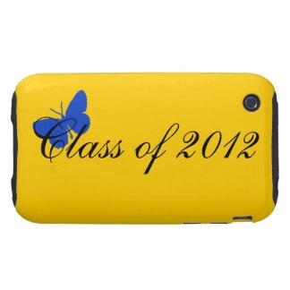 Clase de 2012 - mariposa del azul y del oro iPhone 3 tough protector