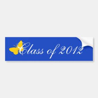 Clase de 2012 - mariposa del azul y del oro pegatina para coche