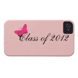 Clase de 2012 - mariposa rosada Case-Mate iPhone 4 funda