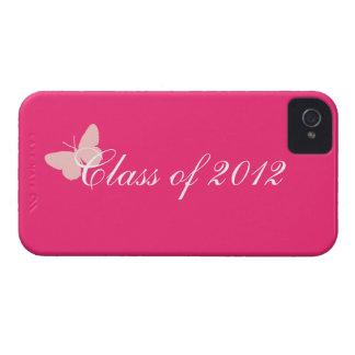 Clase de 2012 - mariposa rosada iPhone 4 Case-Mate fundas