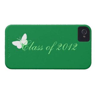 Clase de 2012 - mariposa verde y blanca iPhone 4 carcasas