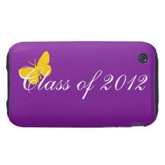 Clase de 2012 - púrpura y oro tough iPhone 3 protectores