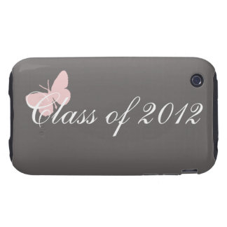 Clase de 2012 - rosa y gris iPhone 3 tough protector