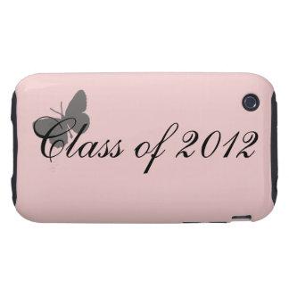 Clase de 2012 - rosa y gris iPhone 3 tough cárcasa