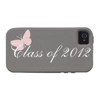 Clase de 2012 - rosa y gris iPhone 4 carcasas