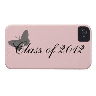 Clase de 2012 - rosa y gris iPhone 4 funda