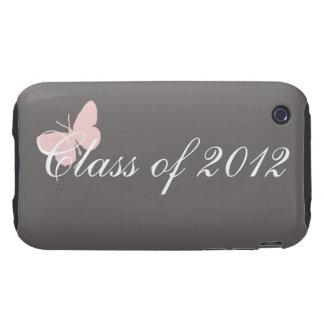 Clase de 2012 - rosa y gris tough iPhone 3 carcasa