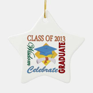 Clase de 2013 adorno navideño de cerámica en forma de estrella