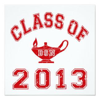 Clase de 2013 BSN Invitacion Personalizada