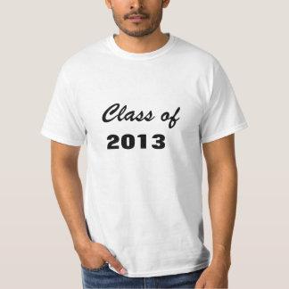 Clase de 2013 graduaciones de la graduación de la camiseta
