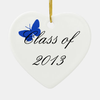 Clase de 2013 - mariposa azul adorno