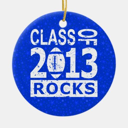 Clase de 2013 rocas ornamentos de navidad