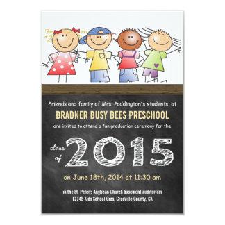 Clase de 2015 pocos niños del dibujo animado invitación 8,9 x 12,7 cm