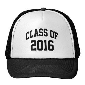 Clase de 2016 gorras