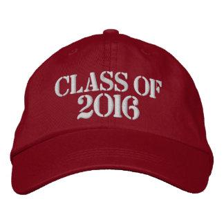 CLASE de 2016 gorras de béisbol ajustables Gorras De Béisbol Bordadas