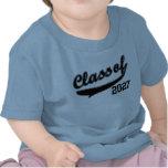 Clase de 2027, camiseta divertida linda del bebé