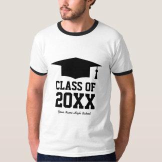 Clase de camisetas de la fiesta de graduación para