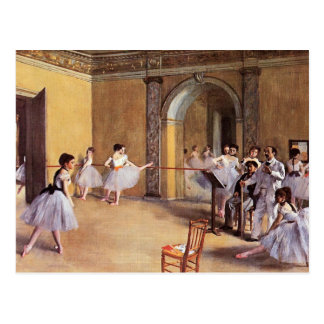 Clase de danza en la ópera de Edgar Degas Postal