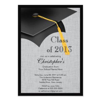 Clase de fiesta de graduación negra del casquillo invitación 12,7 x 17,8 cm