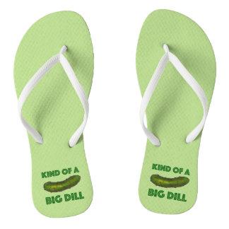 Clase de flips-flopes verdes grandes de una chanclas